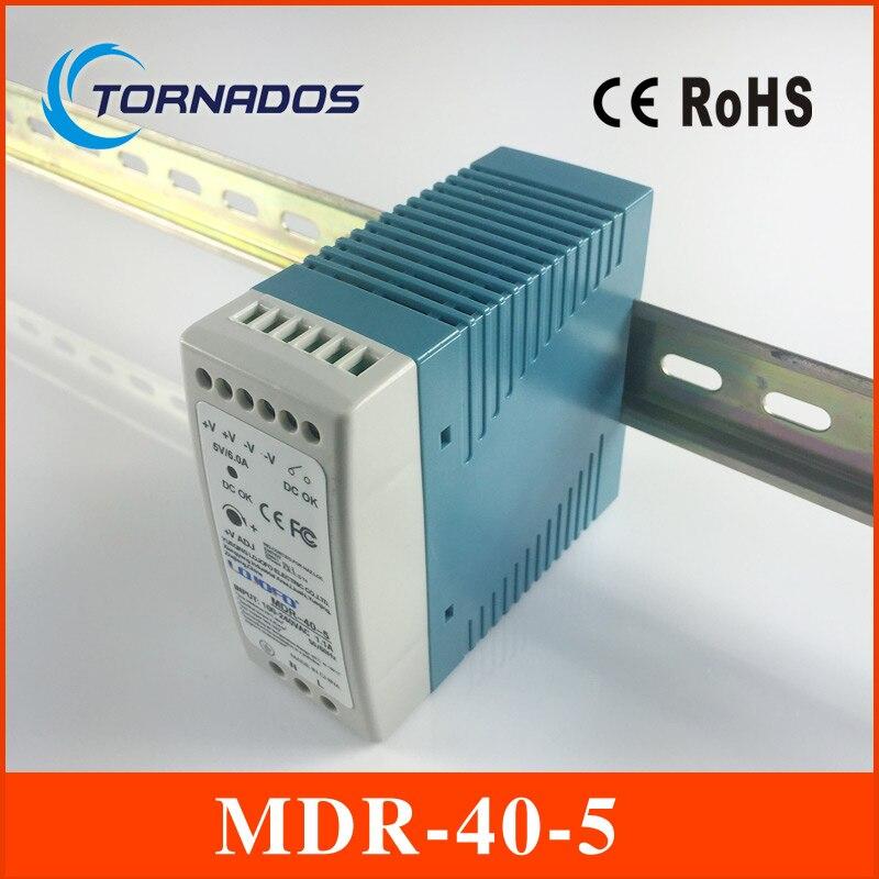 MDR-40-5 carril DIN industrial mini fuente de alimentación para LED conductor 5 V 6A 30 W AC DC conductor llevado
