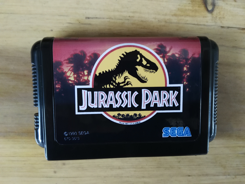 MD Game : JURASSIC PARK ( Japan Version!! )