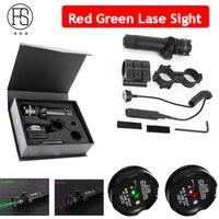 Unterstützung großhandel taktische laser installiert grün red dot laser ziel gewehr suchen air gun sight 20mm schiene und barrel montage