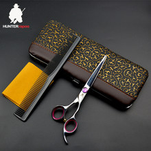 30% Off HT9160 Hair cutting shears professional japan barber scissors for hairdressing salons supplies haircut trimmer clippers(China)