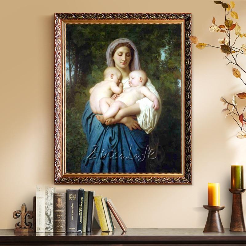 ▽Decoración para el hogar Jesus Christ Virgen María sosteniendo el ...