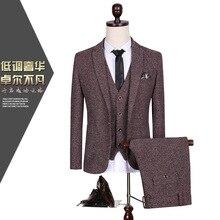 CCXO2017 three-piece suit men's suits plus-size wedding dress party Business suit the M – 5 xl