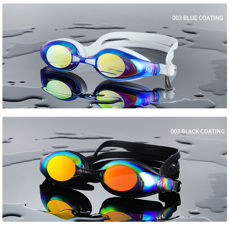Unisex Professional Myopia Silicone Swimming Pool Glasses Anti Fog Waterproof 5