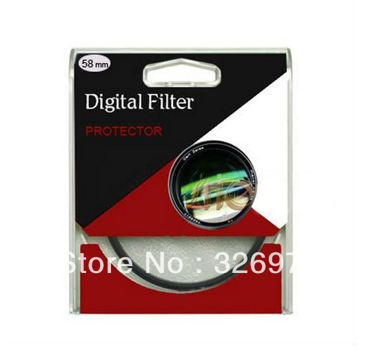 10pcs/lot 52mm UV Digital Filter Lens Protector for Canon/Nikon DSLR SLR Camera Free Shipping+tracking number