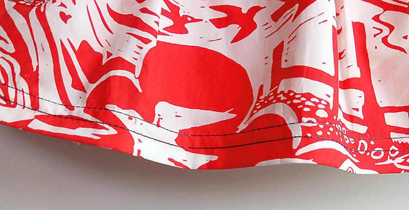 Faldas para niñas de algodón puro 2019 de marca para niños falda de verano ropa con estampado de personaje para niños y niñas falda Casual de media longitud con estampado de bebé
