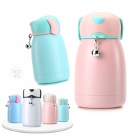 300ml Mini Thermos Cup Dog Style Lovely Stainless Steel Mug Portable Travel Vacuum Cup Gift For