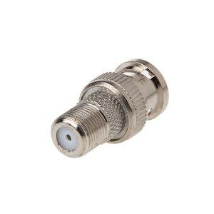 Image 5 - 10 قطع/مجموعة BNC قابس ذكر إلى F أنثى جاك موصل موصل لكاميرا CCTV