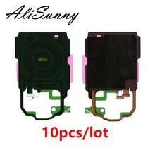 AliSunny 10 pcs אלחוטי NFC להגמיש כבל לסמסונג גלקסי S8 S9 בתוספת G950 G955 טעינת שקע פנל סליל מדבקה אנטנת שבב