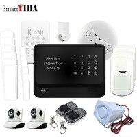SmartYIBA G90B плюс WI FI GSM сигнализация Системы приложение Управление умная розетка для бытовой техники безопасности Камера дым противопожарной з