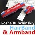 One piece gosha rubchinskiy yoga anel hairband cabeça faixa de cabelo jacquard pulso braço bandagem correr desporto atletismo homens logotipo unisex