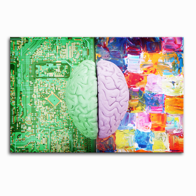 Creative Brain Painting Canvas Printing Art Decor Sense And Sensibility Digital On Unframed