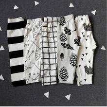 The New High Quality Cotton Babys Boys Girls Harem Pants Cute Geometric Pattern Baby