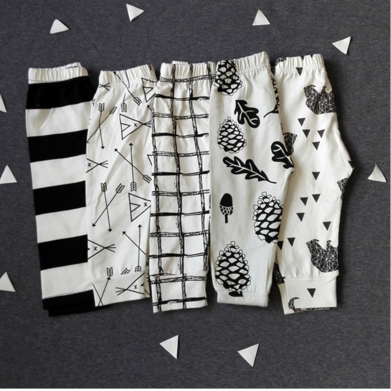 The New High Quality Cotton Babys Boys Girls Harem Pants Cute Geometric Pattern Baby Pants Kids Children Baby Clothes