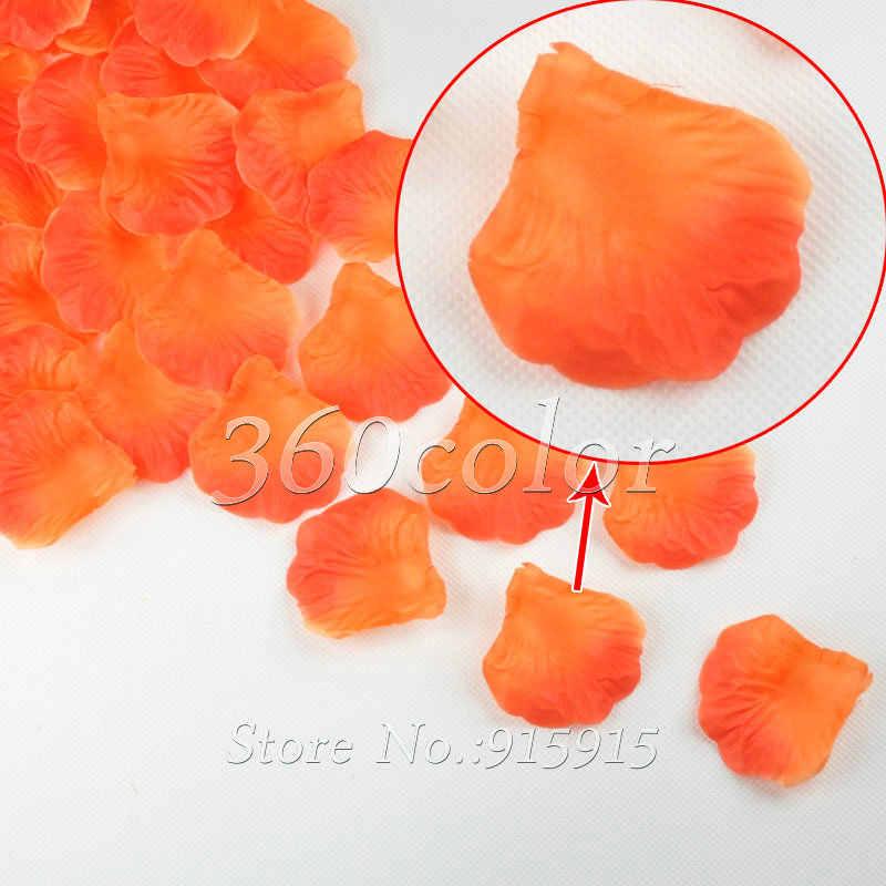 100ชิ้น/ล็อตสีแดง+ส้มผ้าไหมกลีบกุหลาบดอกไม้ฉลองจัดเลี้ยงงานแต่งงานตกแต่งหลายสีขายร้อน