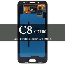 Супер amoled lcd для c8 c7100 дисплей с кодирующий преобразователь