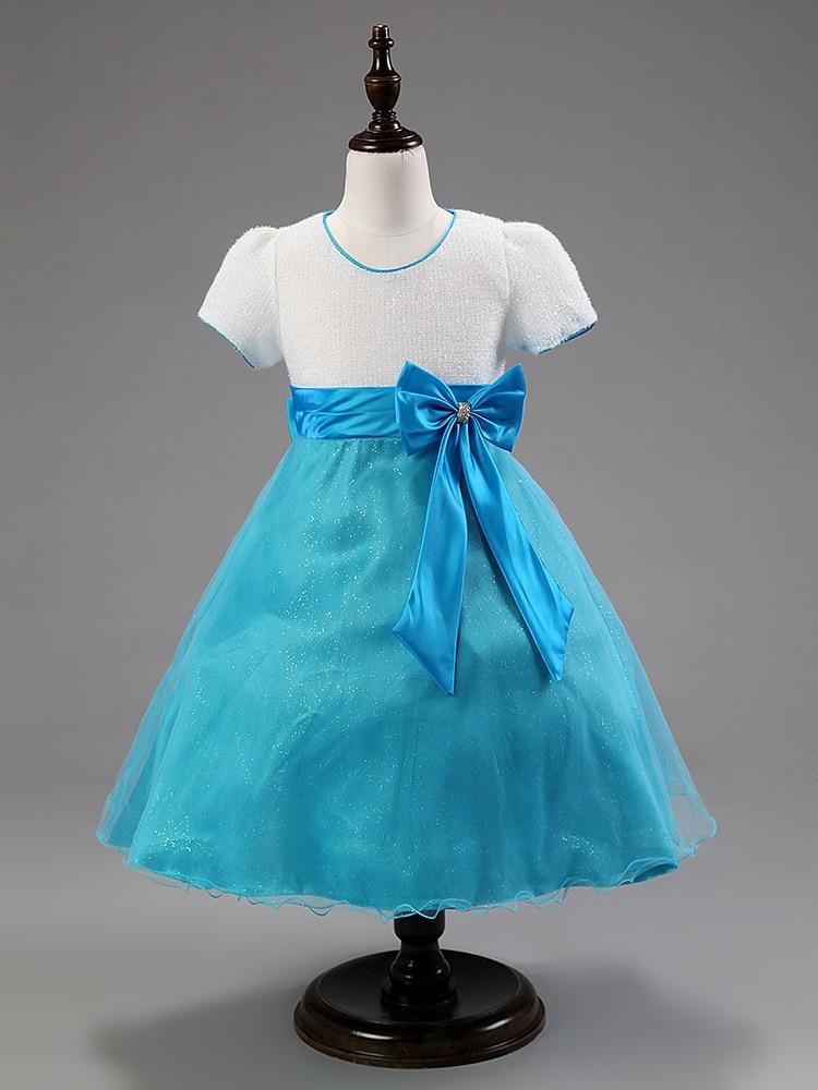 Christmas Girls Princess Dress Patchwork Knee length For Wedding ...