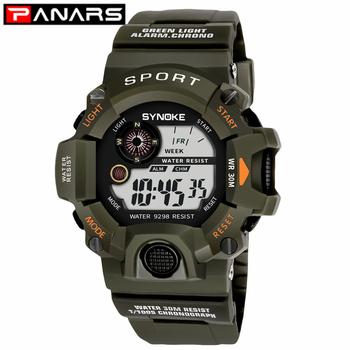 PANARS New Arrival G zegarek mężczyźni Shock zegarki sportowe LED zegarki na rękę wodoodporny zegarki sportowe męskie cyfrowy wojskowy zegarki tanie i dobre opinie Cyfrowe Zegarki Na Rękę Z tworzywa sztucznego Klamra 3Bar Stoper Odporny na wstrząsy Wyświetlacz led Repeater Odporne na wodę
