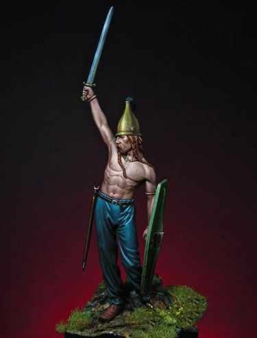 Figuras de los Warriors celtas del siglo 3. ° C, Escala de 54MM, miniaturas sin pintar, Kit de GK de modelismo de resina, envío gratis