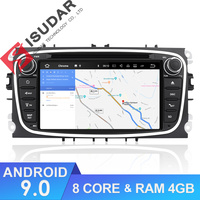 Isudar Car Multimedia player Android 9 GPS Autoradio 2 Din For FORD/Focus/Mondeo/S MAX/C MAX/Galaxy RAM 4GB 64GB Radio DSP DVR