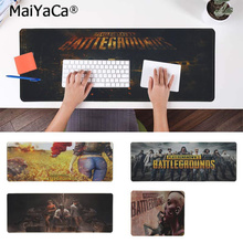 MaiYaCa In Stocked PUBG Natural Rubber Gaming mousepad Desk Mat Rubber PC Computer Gaming mousepad maiyaca hot sales anime steins gate natural rubber gaming mousepad desk mat large lockedge mousepad laptop pc computer mouse pad