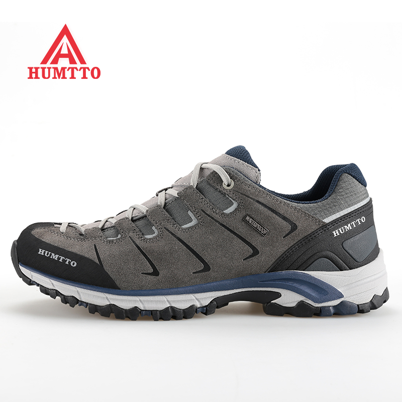 Famous Brand Men's Leather Outdoor Trekking Hiking Shoes Sneakers For Men Sports Climbing Mountain Shoes Sneaker Man Senderismo humtto new hiking shoes men outdoor mountain climbing trekking shoes fur strong grip rubber sole male sneakers plus size