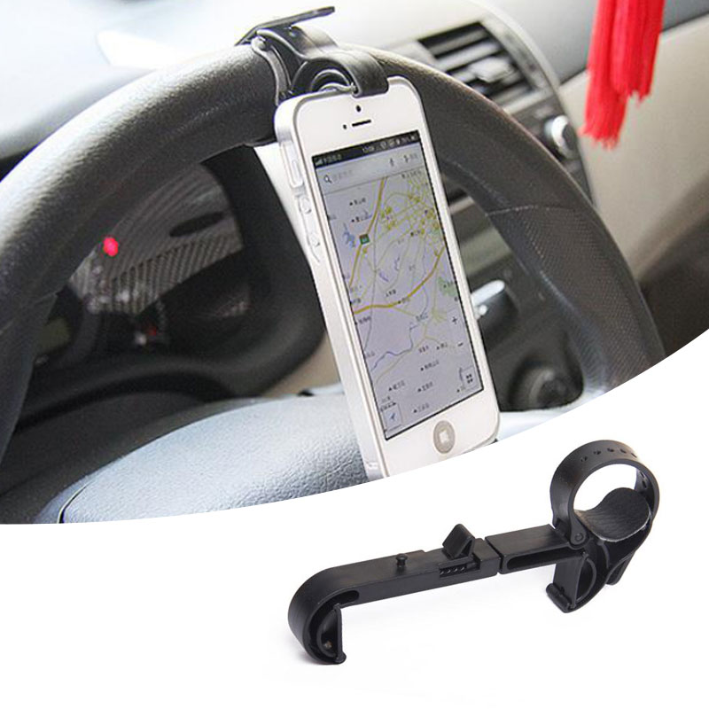 Universal Car Steering Wheel Mobile Phone Mount Holder