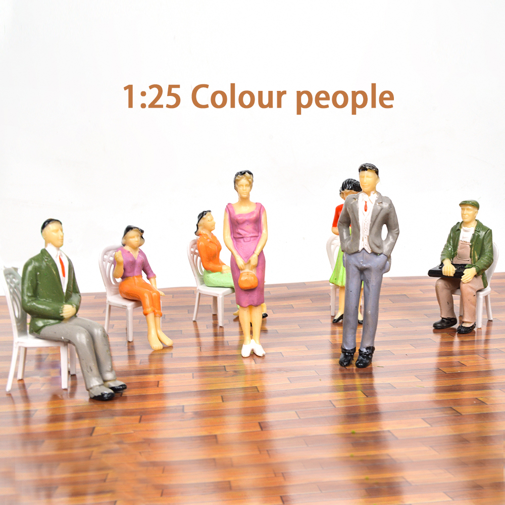 Teraysun 50pcs wholesale 1:25 miniature plastic scale model human figure