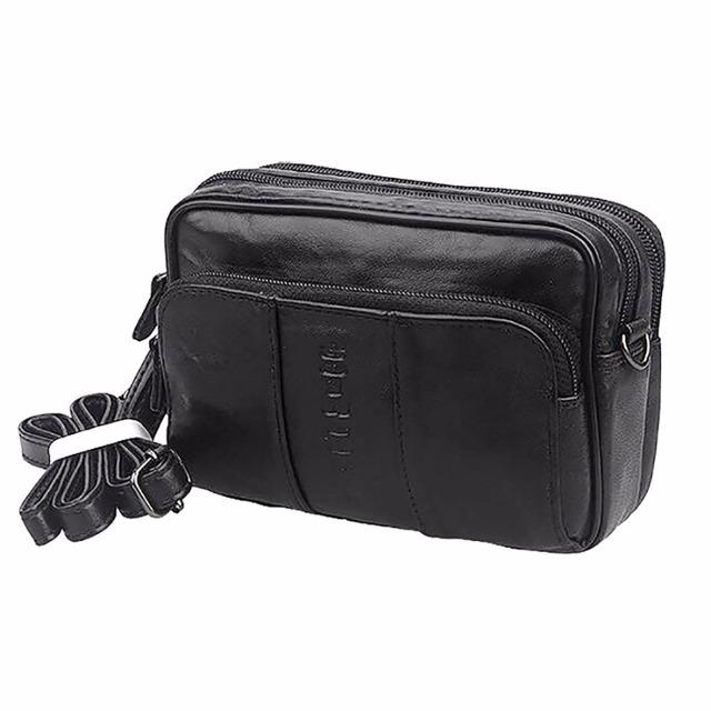 Primera Capa de Cinturón de cuero de Vaca Cruzada Cuerpo Mini Hombro bolsa de Viaje Bolsa de Los Hombres de La Vendimia de Mensajero Bolsas Pequeñas Riñonera De Cuero Genuino Paquete de La Cintura