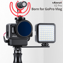 ULANZI V2 Pro Vlogging Case for Gopro,Vlog Setup Housing Frame Shell Cage Gopro HERO 7 6 5 Action Camera Accessories
