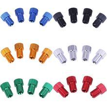 4 шт., адаптер для клапана Presta to Shrader, аксессуары для велосипедного насоса, Аксессуары для велосипеда, дорожный велосипед, шиномонтажные переходники для клапанов, трубчатые преобразователи, велосипедные
