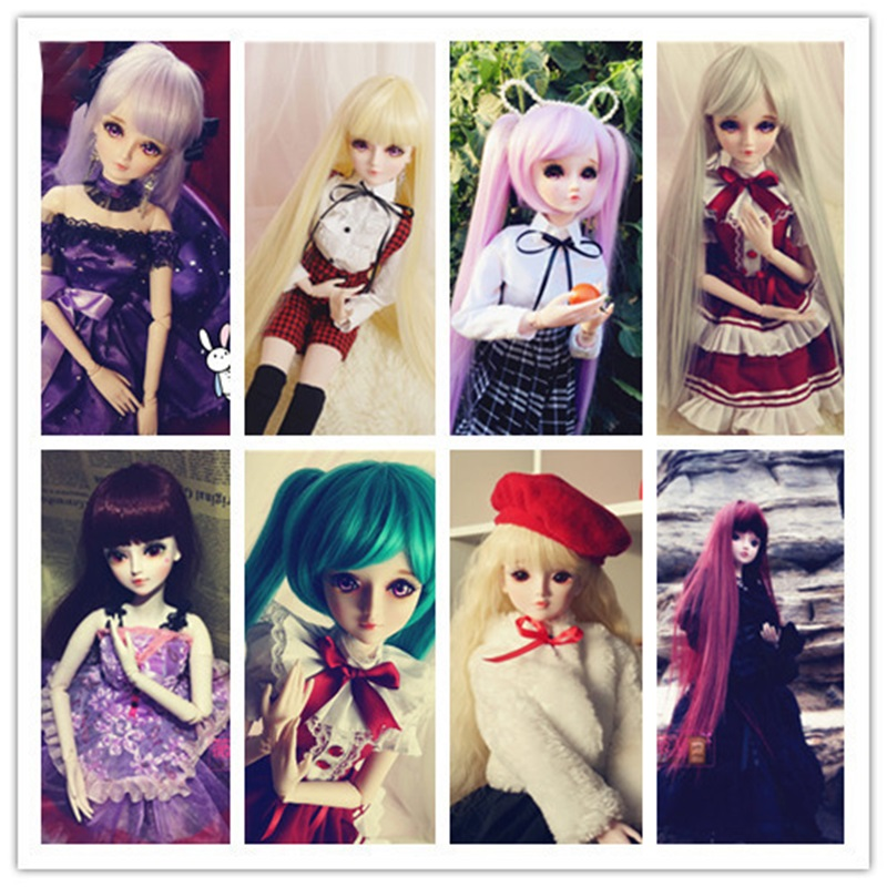 60cm Diy Doll Wig High-temperature Material Straight Hair Wig  Bjd High-temperature Doll Accessories Doll High Temperature Fiber