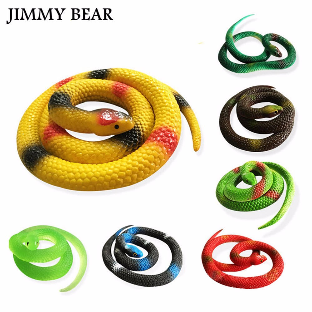JIMMY BEAR 5 Pcs/Set Simulation Snake Rubber Fake Funny April Fool Joke Funny Gags Trick Toys ...