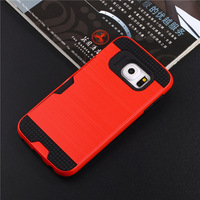 For Samsung Galaxy S5 S6 Edge Plus Phone Case Ultra Thin Aluminum Metal Wire Drawing Back