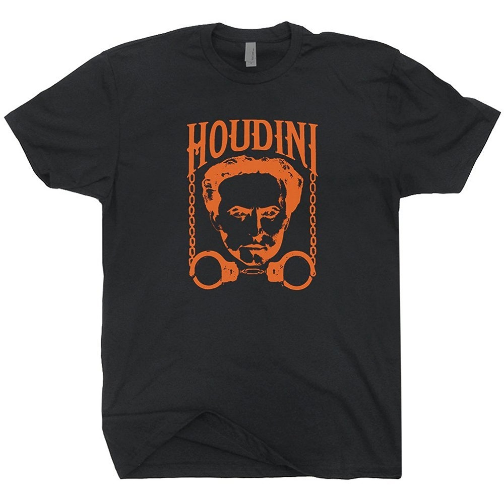 Harry Houdini T Shirt Magic Magician Tricks poster Las Vegas graphic Mens Shirts Men Clo ...