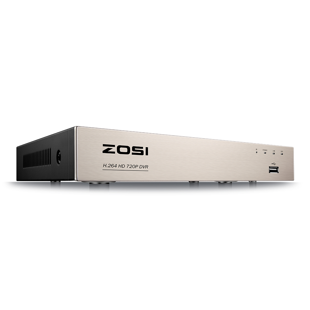 ZOSI 8 Channel TVI 4-IN-1 DVR 720P Security CCTV DVR 8CH Mini Hybrid HDMI DVR Support Analog/AHD/TVI/CVI Camera
