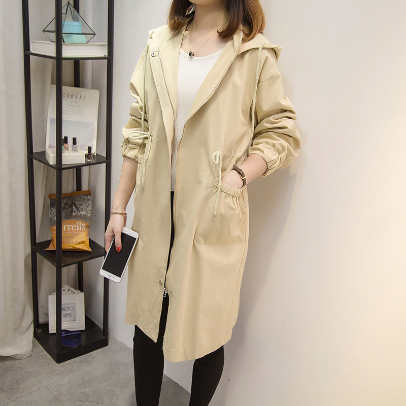 YICIYA khaki trench coat for women plus size 4xl 5xl large oversize outerwear long clothes winter hooded 2019 loose fashion top