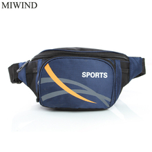 Free Shipping Waterproof Waist Pack For Men Women Casual Functional Fanny Pack Hip Money Belt Travel Mobile Phone Bag WUP103