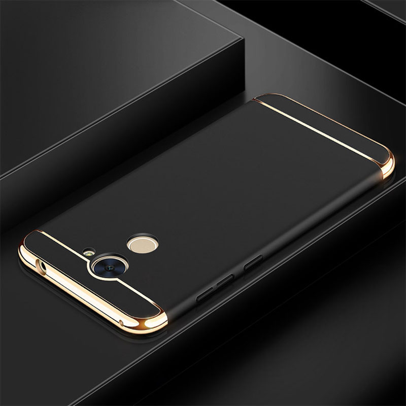 For Huawei Y7 Prime Case Luxury Metal Plating Shockproof Matte Frosted Plastic Hard Back Cover For Huawei Y7 Prime Cases 3 in 1