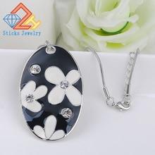 (1 pieces / lot) 100% zinc alloy enamel pendant necklace