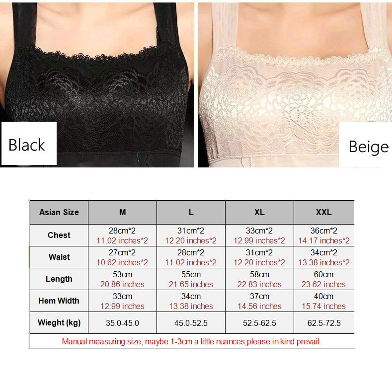 New Womens Shapewear Shaper Camisole Tank Tops Slimming Compression Vest Lace Swimming Underwear Dilated Shoulder Straps L-XXL 2