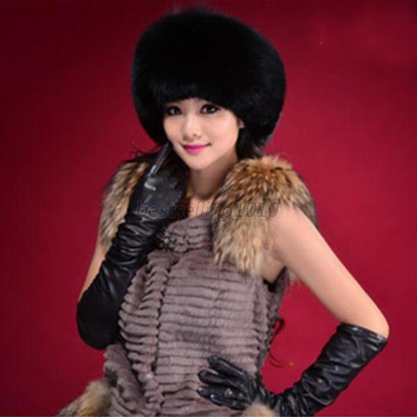 New Fashion Warm Winter Tail Beanie Beret Cap Women Faux Fur Ear Earflap Hats