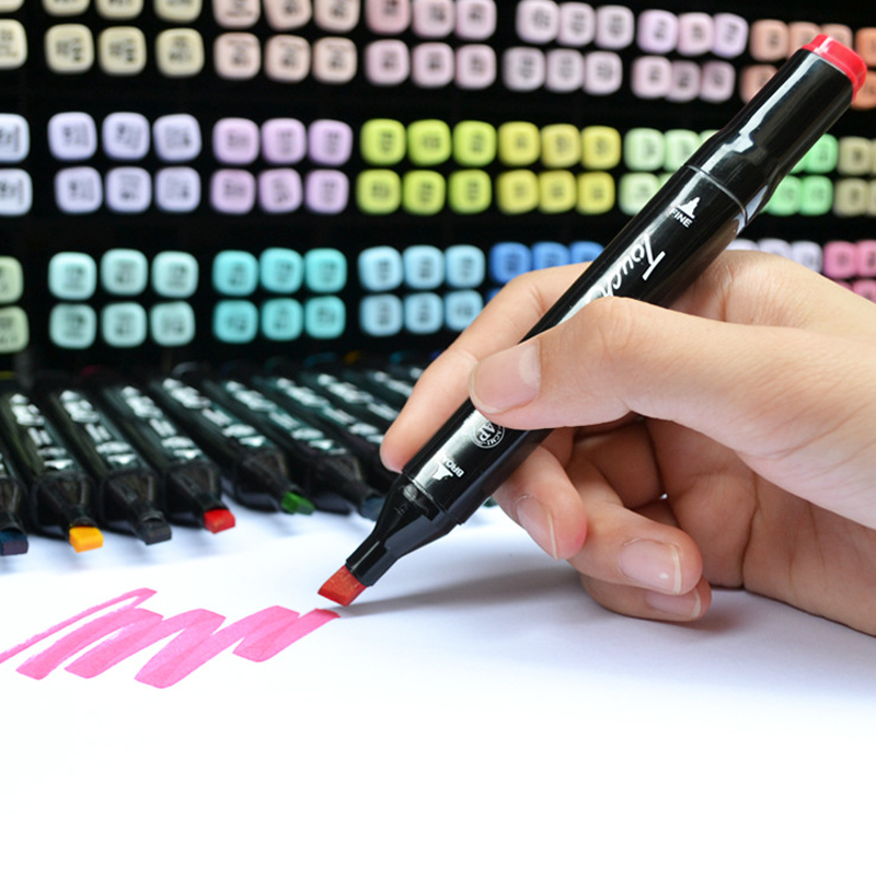 12/30/40 Colors Dual Head Art Marker Set Oily Sketch Markers Pen Brush pen Drawing Marker Pens for Manga Animation Design touchnew 7th 30 40 60 80 colors artist dual head art marker set sketch marker pen for designers drawing manga art supplie