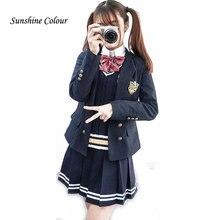 992707c8f1876 Otoño caliente estudiantes de secundaria ropa Trajes uniformes coro ropa  Niñas pista Trajes capa + camisa
