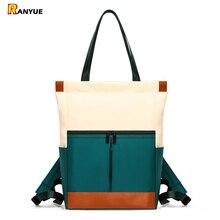 Nylon wodoodporny 15.6 plecak na laptopa kobiety o dużej pojemności panie ręcznie podwójne torby na ramię kobieta Bagpack Satchel Travel Bolsa