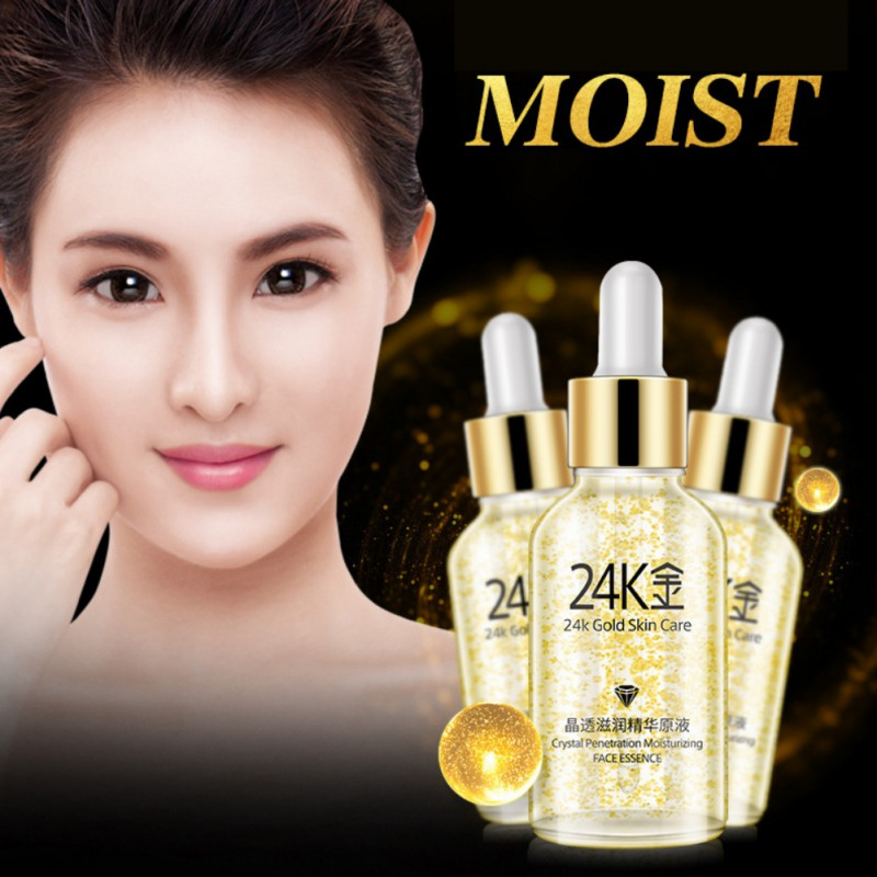 Essential Oil 24k Gold Crystal Clear Moisturizing Essence Liquid Water Nourishing Moisturizer Essence Skin Care Products Moderate Cost Skin Care