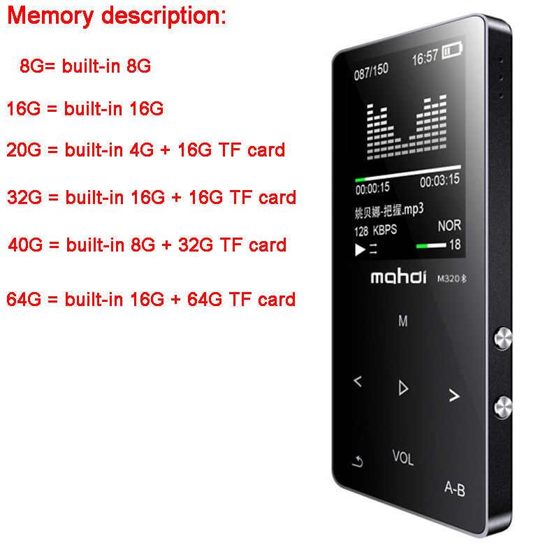 مشغل MP4 مع بلوتوث الرياضة mp3 mp4 مشغل موسيقى ث المتكلم المحمولة mp 4 وسائل الإعلام ضئيلة شاشة تعمل باللمس راديو fm فيديو Hifi 16GB
