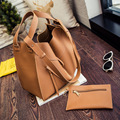 New 2016 Fashion Women Composite Bag Designer Handbags Embossed Leather Bag Lady Messenge Bag Vintage Women Shoulder Bag Set