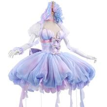 цена на Anime Cos Card Captor Sakura Marine Princess Tomoyo Daidouji Sweet Lolita Dress Gradient Color Women Cosplay Costume Dresses