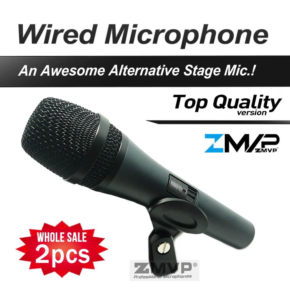 Livraison Gratuite! 2 pcs/lot Top Qualité 845 Professionnel Dynamique Supercardioïde Vocal Wired Microphone Microfone Microfono Mike Mic