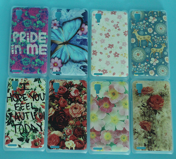HOT Sale Very cheap painted Lovely flowers towers and animals case for Lenovo p780 p 780 patterns DIY Colored Cover in stock